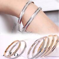 Shining Bracelets Charm Bangle Stainless Steel Party Wrist Women Fashion Jewelry