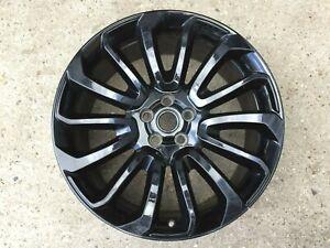 "1 x Range Rover L405 22"" Turbine 16 707 7007 GLOSS BLACK GENUINE OEM Alloy Wheel"