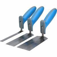 Margin Trowel Set Corner Plastering Tiling Soft Grip Handles 3 Piece Set