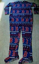 NWT BOSTON  RED SOX ONE PIECE FOOTED FLEECE PAJAMAS/UNION SUIT SZ..XL