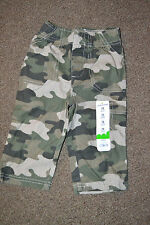 Jumping beans® boys camouflage canvas pants sz  12m *NWT*