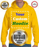 Your Text Customized Mens Pullover Hooded Sweatshirt Hoodie Solid Plain Pockets