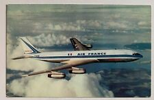 Vintage Postcard Air France airline Boeing 707 Intercontinental airliner plane