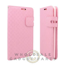LG G3 Wallet Pouch Deluxe Textured Baby Pink Case Cover Shell Protector Guard