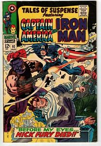 TALES OF SUSPENSE #92 1967 1ST NICK FURY CROSSOVER MARVEL SILVER AGE!