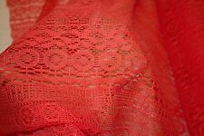 Coral Crochet Knit #3 100% Polyester Soft Warm Stretch Fabric BTY