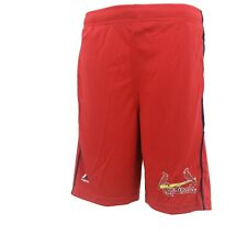 St. Louis Cardinals MLB Majestic Cool Base Kids Youth Size Athletic Shorts New