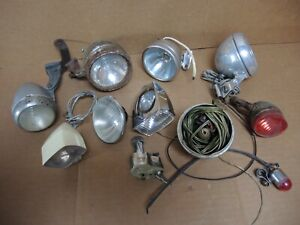 CYCLE DYNAMO LIGHTS SPARE PARTS JOBLOT - HEADLIGHTS / TAILIGHTS - SOME VINTAGE