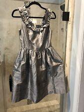 Lula Kate Silk Dupioni Ruffle Cocktail Dress xs 0 NEW Audrey Hepburn