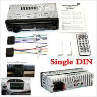 12V 1 DIN Car Stereo FM Radio SD/USB/AUX Bluetooth Remote Head Unit MP3 Player