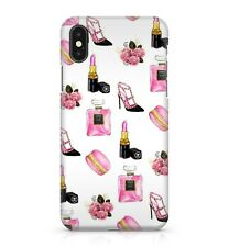 Women's Make Up Lipstick Nail Polish Rosy Pink Flower Bouquet Phone Case Cover