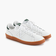 fe2b4fcb4c25b NIB New Balance For J.Crew 791 Leather Sneakers Size 6 FOREST gum sole E8592