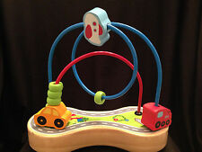 Hape Holding Wire Bead Maze Wood Base Suction Cups Car Train Plane Switzerland