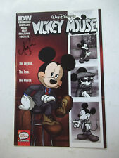 MICKEY MOUSE  (IDW)  #1  (2015)  9.0 VF/NM  SIGNED BY AMY MEBBERSON