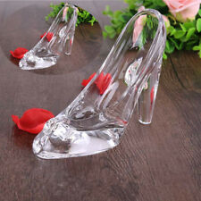 Princess Crystal Shoes Glass High Heel Valentine Xmas Gift Party Decor Ornament