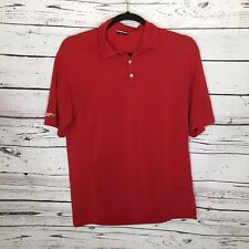 Nike Golf Mens Large Red Athletic Collared Polo Shirt Spx A65