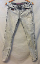 dollhouse Skinny Bleached Jeans Size 11 pink pockets