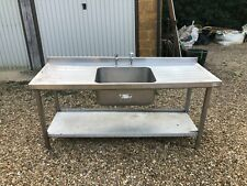 More details for stainless steel catering sink unit