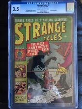 STRANGE TALES #3 CGC VG- 3.5; CM-OW; John Romita art; atom bomb panels!