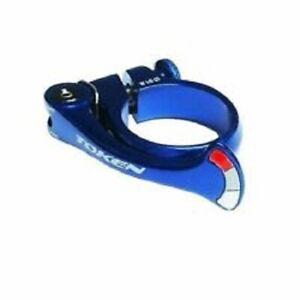 Token TK1683 Shark Tail Seatpost Clamp 31.8mm For Road, BMX & MTB Bike BLUE