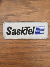 "Vtg SaskTel Saskatchewan Canada Sew On Patch 5"" Utilities SK Phone Embroidered"