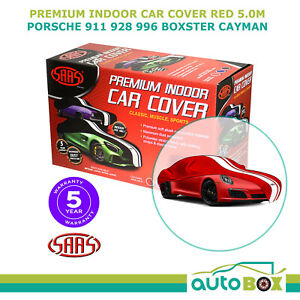 SAAS INDOOR SHOW CAR COVER PORSCHE 911 928 996 BOXTER CAYMAN fits 5.0m RED LARGE