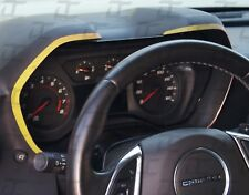 2016-2019 Camaro Yellow Carbon Fiber Gauge Bezel Accent Decal kit-Chevy trim kit