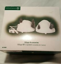 Dept 56 Christmas Snow Village Accessories MP3 Speakers set of 2 810808