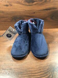 Dearfoams Women's Memory Foam Slippers Size XL In Peacoat