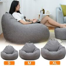 Large Small Lazy Sofas Cover Chairs Without Filler Lounger Seat Bean Bag Cover