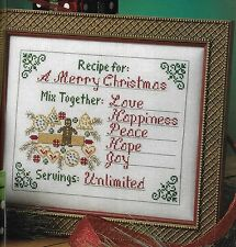 **RECIPE FOR A MERRY CHRISTMAS TO STITCH-USES MILL HILL*CROSS STITCH PATTERN*HTF