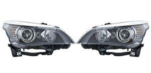 Pair Set of 2 OEM Xenon Hella Headlights Headlamps for BMW E60 528i 550i 535i M5