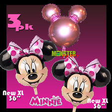 3 combo Pink Minnie Mouse Birthday Party Balloons Balloon Super Shape Disney YES