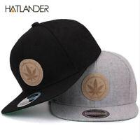 Leaf Marijuana Cotton Baseball Cap Hip-Hop Adjustable Snapback Outdoor