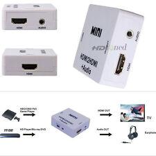 NEW HDMI Input Mini HDMI2HDMI Audio Converter HDMI Extractor Splitter 3.5mm Out