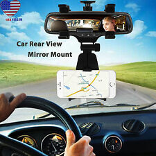 Car Rearview Mirror Bracket Car Mirror Mount Cradle Phone Stand for Car Black