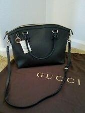 NWT Gucci 449651 Black Leather Handbag Purse w/ shoulder strap