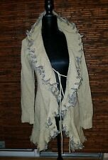 Beautifull Soft  Ivory Beige Sweater/Cardigan in size Large by RXB.