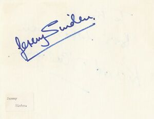 Jeremy Sinden signed card autograph English actor Star Wars Gold Two rebel pilot