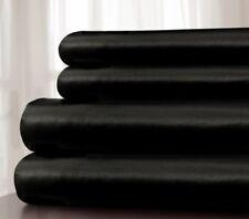4pc Solid Black California Cal King 400 Tc 100% Cotton Sateen Wamsutta Sheet Set