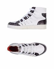 Diesel Black Gold White High-top Leather Sneakers 38/ 8.5 US MSRP $365