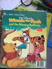 Walt Disney Winnie The Pooh And The Missing Bullhorn Little Golden Book