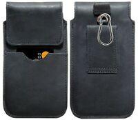 ECHT LEDER HÜFT Gürtel Tasche für Samsung Galaxy XCover Pro Hülle XL Schwarz