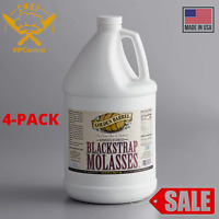 (4-PACK) Golden Barrel 1 Gallon Unsulfured Sulfur-Free Blackstrap Molasses Bulk