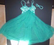 NWT CHIFFON SKIRT LYRICAL DRESS Jade Green Velvet rhinestone brooch medium child
