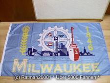 Fahnen Flagge Milwaukee USA Digitaldruck - 90 x 150 cm