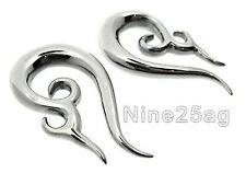 PAIR 0g 2' 3/4 inch SURGICAL STEEL PLUGS TALONS SPIRALS