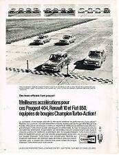 PUBLICITE ADVERTISING   1969   CHAMPION   bougies automobile