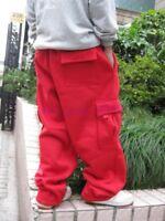 Mens Cargo Baggy Winter Hip Hop Loose Pants Trousers Athletic Sweatpants Plus SZ