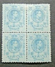 EARLY KING 30C BLOCK OF 4 OF WHICH 2 STAMPS VF MNH SPAIN ESPAGNE W9.51 0.99$